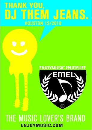 DJ THEM JEANS - ENJOYMUSIC ENJOYLIFE MUSIC T-SHIRTS